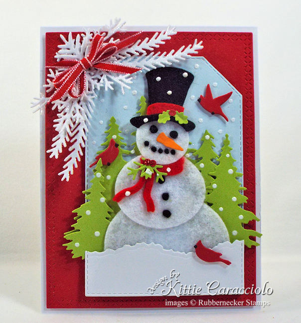 This snowman card combines paper and felt for an adorable, giftable card!