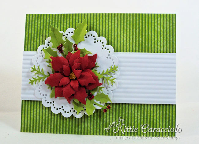 Click through to learn how to make a stunning paper poinsettia that you can use in so many ways!
