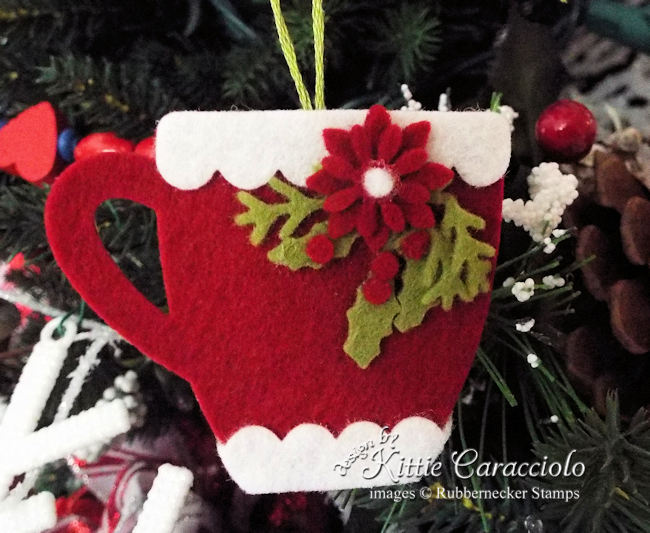 This handmade felt Christmas ornament is the perfect crafty gift.