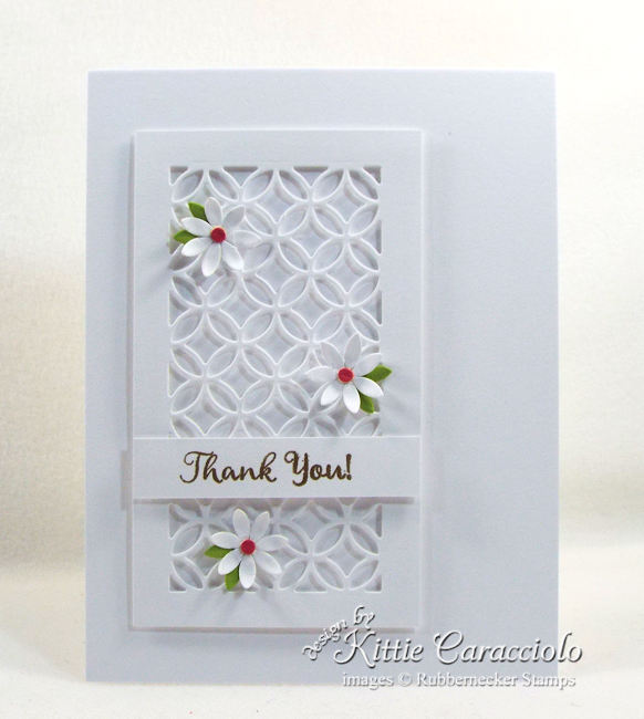 White on white card designs are eleant and perfect for any occasion. Click thru to see how I made this simple thank you card.