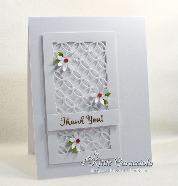 White on white card designs are eleant and perfect for any occasion. Click thru to see how I made this lovely thank you card.