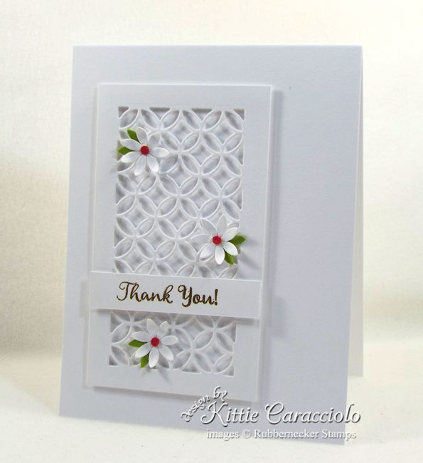 White on white card designs are perfect for any occasion. Click thru to see how I made this simple thank you card.