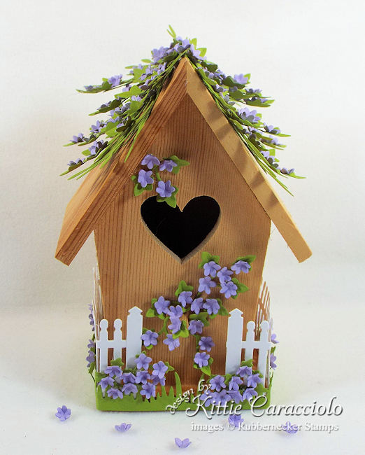 Click thru to see how I used dies to create this decorative bird house for spring.