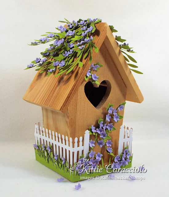 Click thru to see how I used dies to create this sweet decorative bird house for spring.