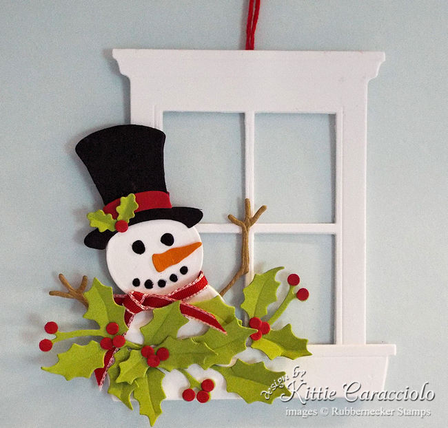 Click thru to see this unique handmade Christmas ornament with Frosty the snowman.