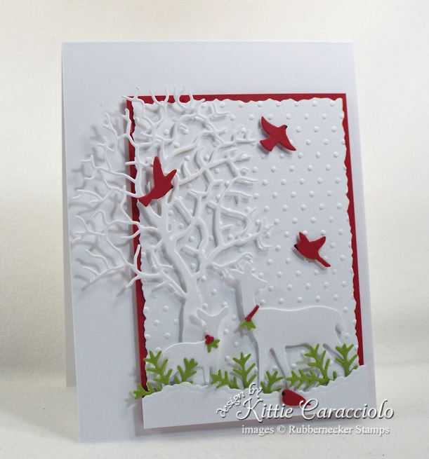 Check out how I make Christmas cards with deer for family and friends.