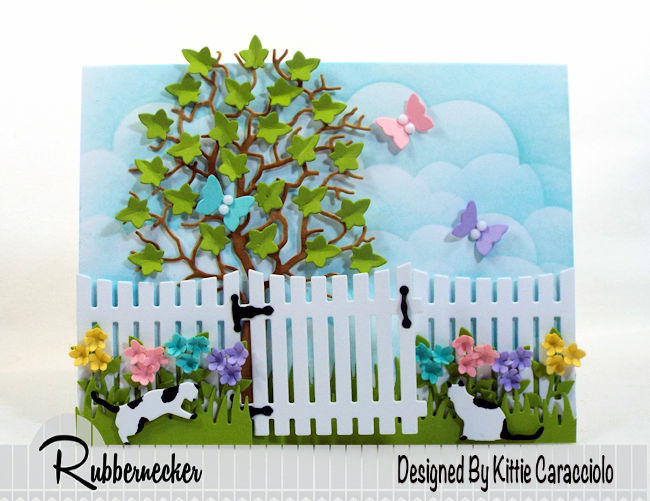 It's so fun to make a spring flowers and butterflies card with die cuts. Click thru to see how I used dies to create this colorful scene.