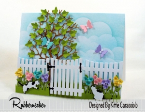 Spring Flowers and Butterflies Card