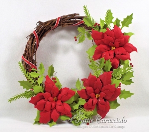 Make a Paper Poinsettia Wreath for a Holiday Gift