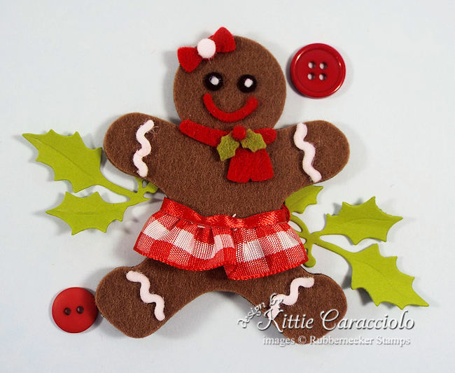 Click thru to see how easy it is to make these super adorable gingerbread Christmas ornaments.