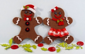 Gingerbread Christmas Ornaments Made With Felt