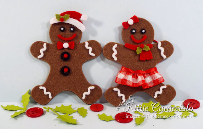 Click thru to see how easy it is to make these super cute gingerbread Christmas ornaments.