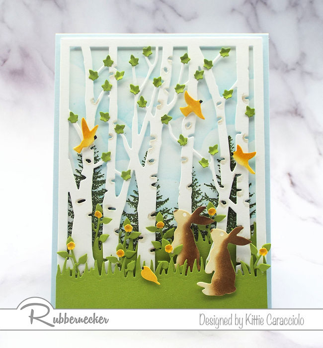 This birch tree die cut card is only one version of the ZILLIONS you can make with this die - come learn more!