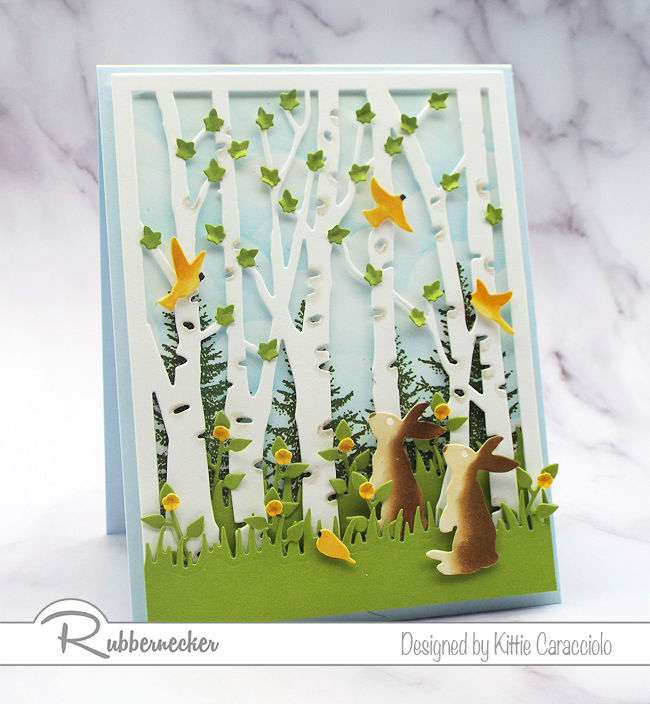 This birch tree die cut card is easier than it looks - come see how I use this die to get a ton of wow!