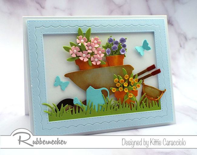 Even if the throes of winter a Welcome Spring card can be a special treat - come see how to make this!