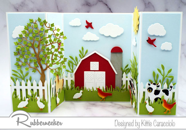 I love how the double shutter form of this farm scene makes a little diorama - come see how you can make one, too!