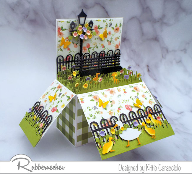 Start with some pop up box card blanks to make this card - click through for more details!