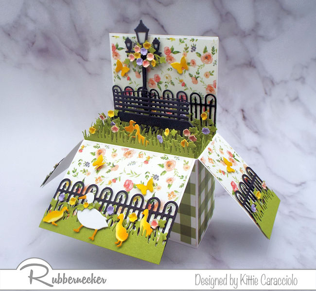This adorable spring project started with some pop up box card blanks - click through to see more!