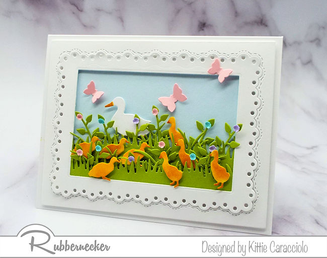 Click through to learn how to make cards with mother duck and ducklings - perfect for Easter!