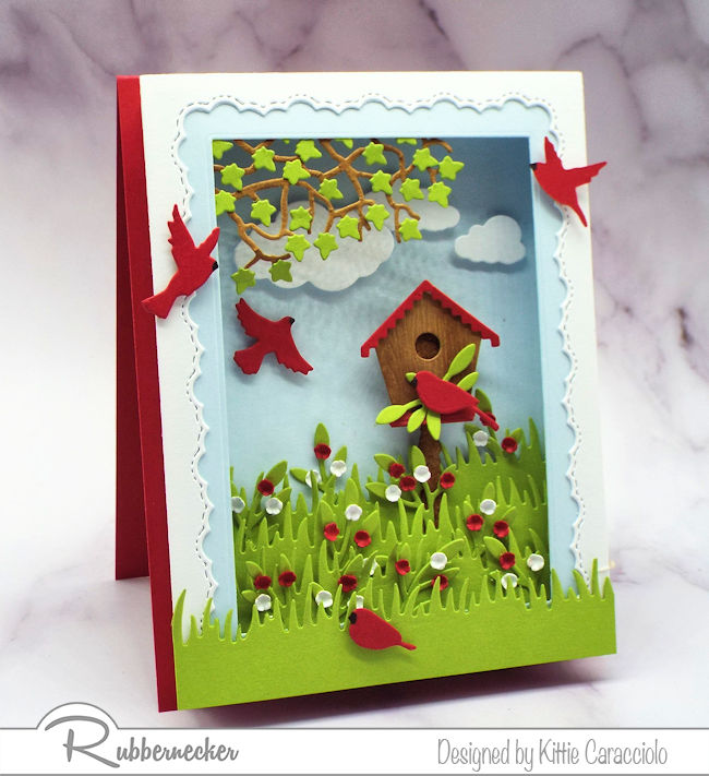 Think learning how to make a shadow box greeting card is hard? Click through to see how easy this was to make!