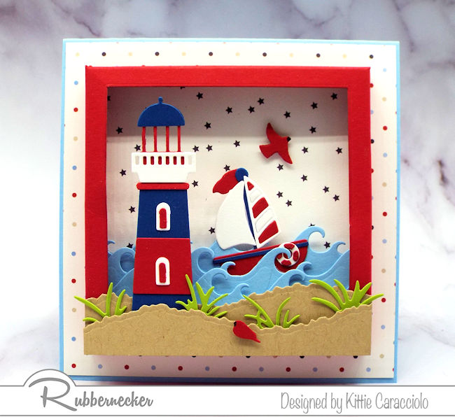 You can almost smell the sea and hear the waves with this cute nautical card - come check it out!