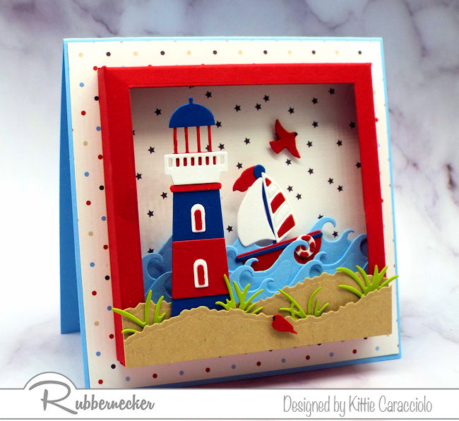 Come check out this shadow box nautical card - lots of details but easy to make!