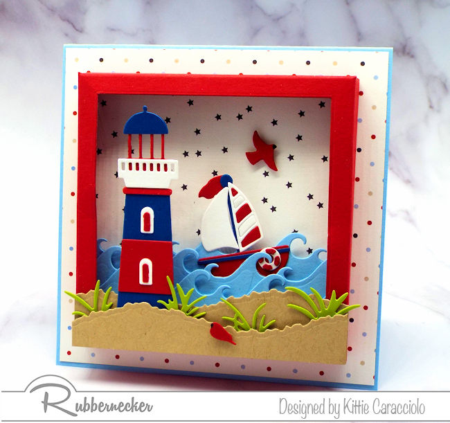 Today I have an adorable nautical card shadow box style so there's lots to see!