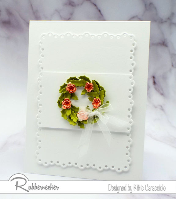 Come see how I made some wreath card for spring - who says the front door should get the only spring wreath love?