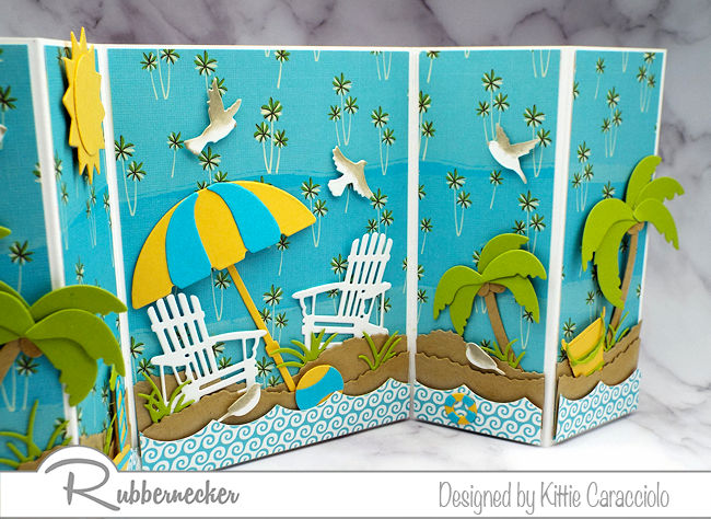 Need some sunshine? Check out today's handmade beach cards, complete with sand and seagulls!