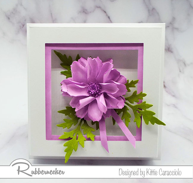 I love to create natural looking dimensional flowers using the paper flower shaping technique. Click thru to my blog to see how I made this beautiful flower.