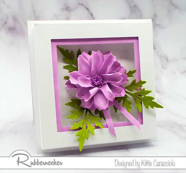 I love to create natural looking dimensional flowers using the paper flower shaping technique. Click thru to my blog to see how I made this gorgeous flower.
