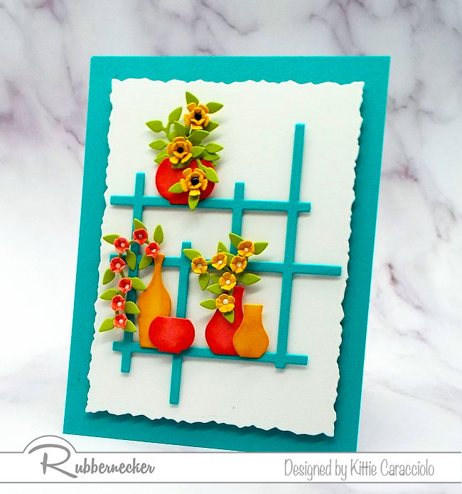 Cards with bright colors are perfect to send to friends and family for all occasions. Click on the photo to see how I made this beautiful card.