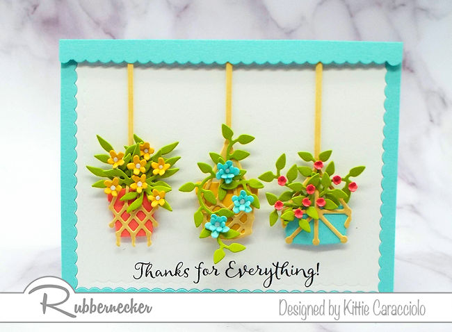 This macrame planters card is so pretty and can be used for so many different occasions. Click on thie picture to see how I created the different arrangements.