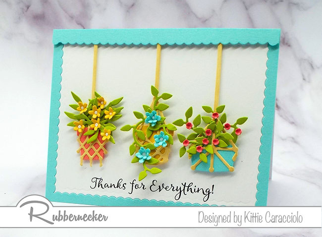 This macrame planters card is so pretty and can be used for so many different occasions. Click thru to see how I created the different arrangements.