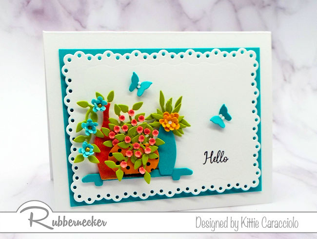 The new Rubbernecker die cut flower vases can be used for some many differernt occasions. Click thru to see how I cam up with this card design.