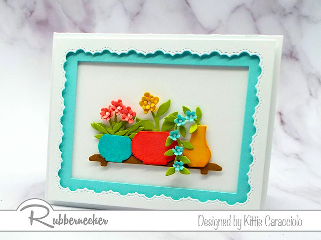 Cards with bright colors are perfect to send to friends and family for all occasions. Click thru to see how I made this beautiful card.