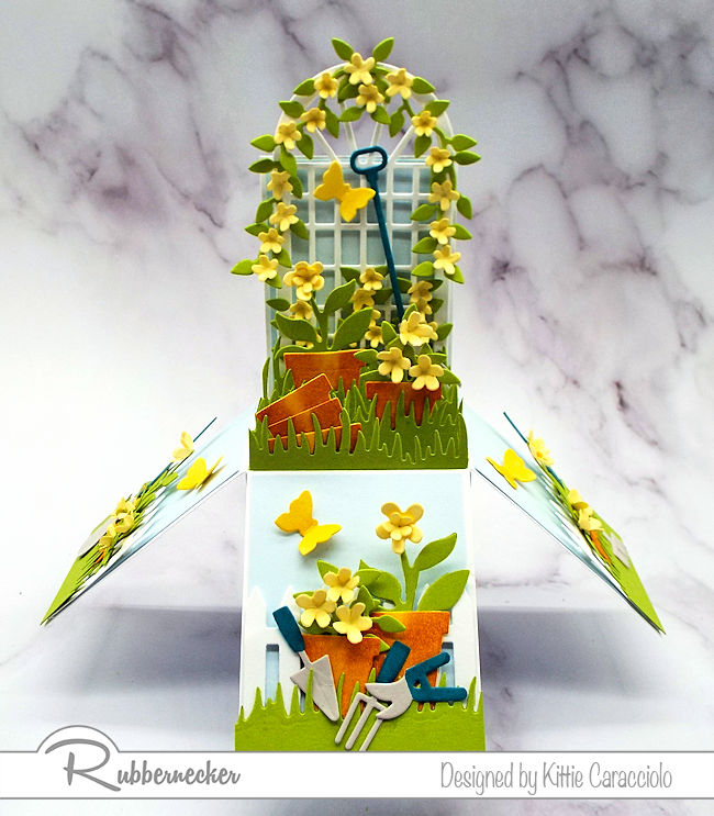 Making this flower garden pop up box was lots of fun and will be a gift to treasure for the recipient.  Click thru to see how I made this sweet card.