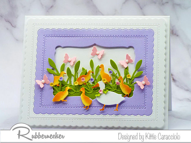 I'm sharing a baby ducks for easter card using dies made by Rubbernecker.  Click on the photo if you would like to see more details.