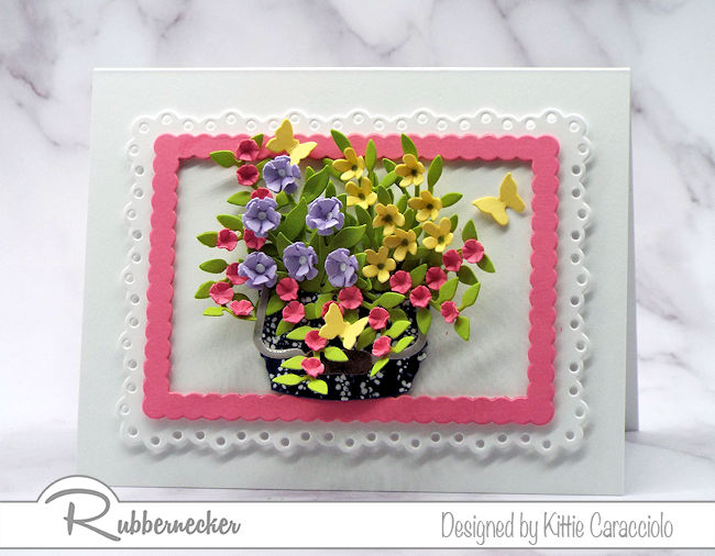 Click through to come over and check out how I use flower arranging with die cuts to create lifelike floral designs using Rubbernecker dies.