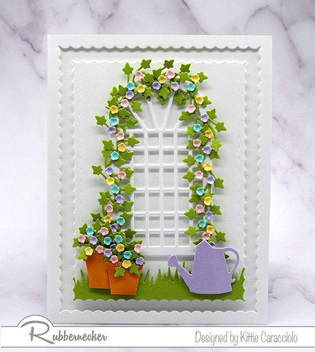 Making this spring garden trellis card was so much fun. Come over to my blog to see more details.