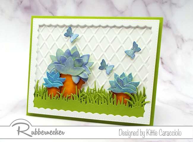 Greeting cards with succulents are so popular in crafting right now. Come over to my blog to see how I made this cute card.