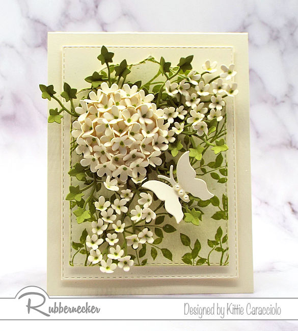 Click over to my blog to see my step by step tutorial on how to make a hydrangea using flower dies made by Rubbernecker.
