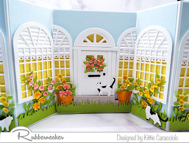 This double shutter home sweet home card was so much fun to make with the flowers, door and windows. Click on the picture to see more details.
