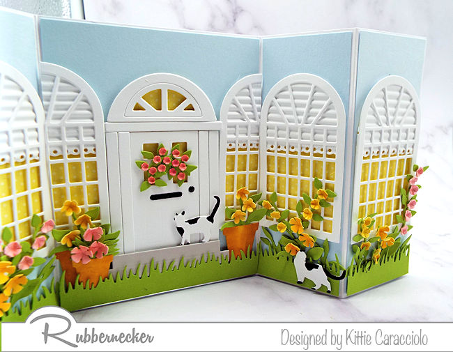This double shutter home sweet home card was so much fun to make with the flowers, door and windows. Click on the card to see more details.