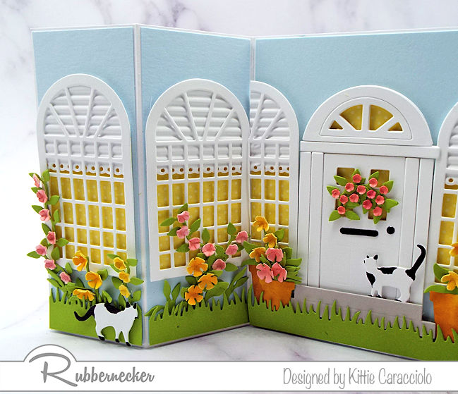 This double shutter home sweet home card was so much fun to make with the door and windows. Click on the card to see more details.