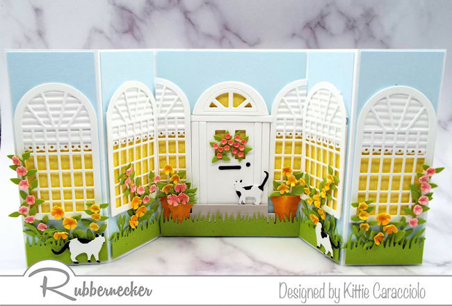 This double shutter home sweet home card was so much fun to make with the door and windows. Click on the picture to see more details.