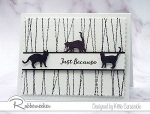 Clean and Simple Card with Cats