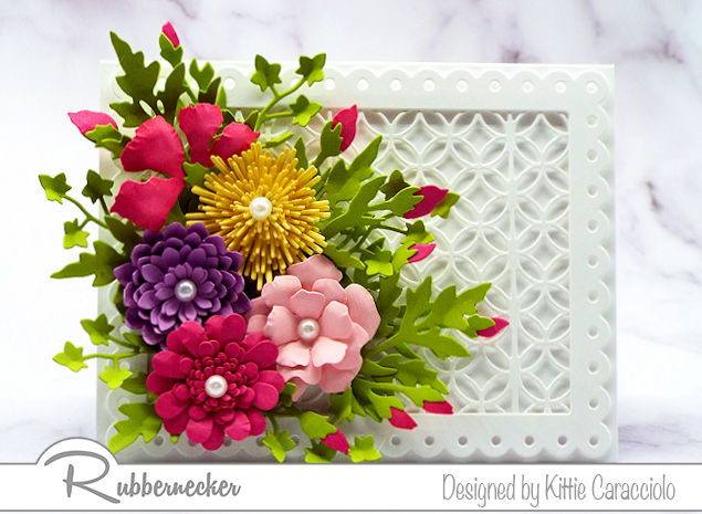 Handmade cards with flowers are so popular for Mother's Day. Come over to see how I arranged this colorful mixed flower arrangement.