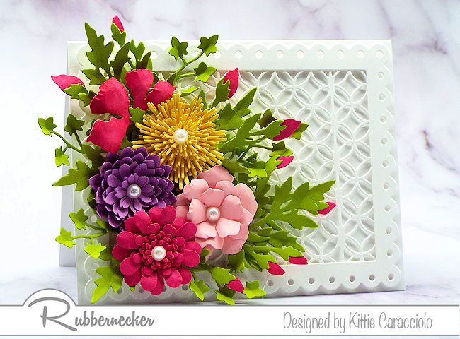Handmade cards with flowers are so popular for Mother's Day. Click on the picture to see how I arranged this colorful mixed flower arrangement.