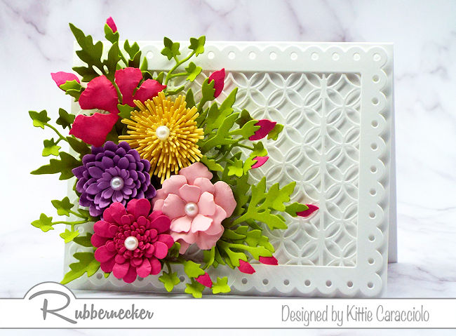 Handmade cards with flowers are so popular for Mother's Day. Come see how I arranged this colorful mixed flower arrangement.